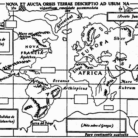 Croquis Mercator 1569