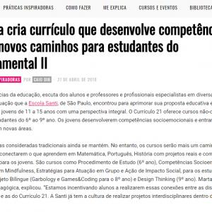 27/4 – Escola Cria Currículo Que Desenvolve Competências