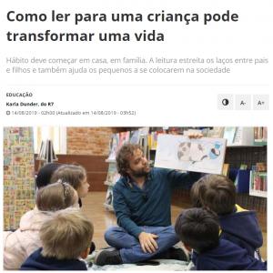 14/08 – R7: Como Ler Para Uma Criança Pode Transformar Uma Vida