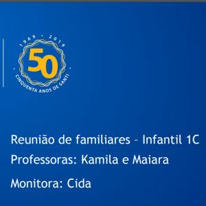 Slide Reunião Coletiva De Pais – Infantil 1C